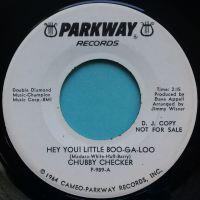 Chubby Checker - Hey you! Little Boo-Ga-Loo - Parkway promo - Ex