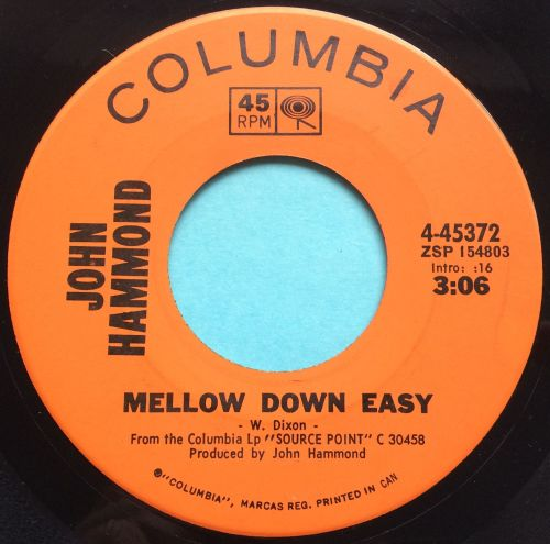 John Hammond - Mellow down easy - Columbia - Ex-