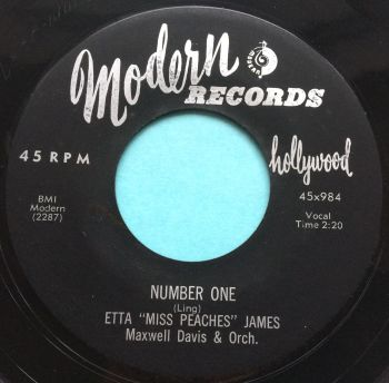 "Etta ""Miss Peaches"" James - Number One - Modern - Ex"