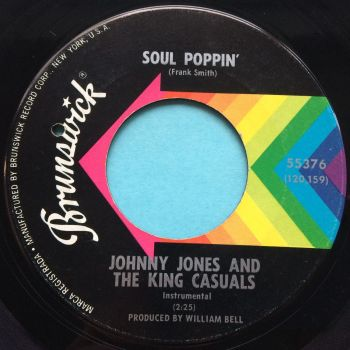 Johnny Jones & The King Casuals - Soul Poppin' - Brunswick - Ex-