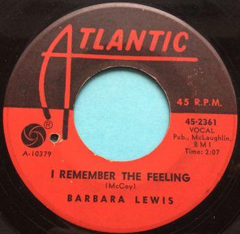 Barbara Lewis - I remember the feeling - Atlantic - VG+