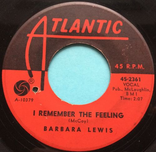 Barbara Lewis - I remember the feeling - Atlantic - VG+