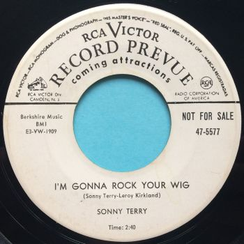 Sonny Terry - I'm gonna rock your wig - RCA - VG+ (Rare promo)