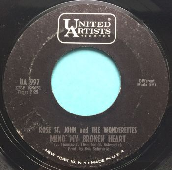 Rose St John and The Wonderettes - Mend my broken heart / And if I had my way - UA - Ex
