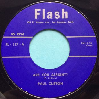 Paul Clifton - Are you alright - Flash - Ex