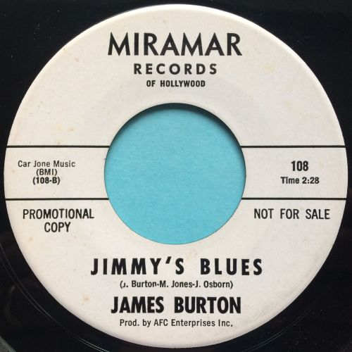 James Burton - Jimmys Blues - Miramar promo - Ex