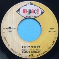 Harold Burrage - Fifty / Fifty - M-Pac - VG (please listen to clip & read description below)