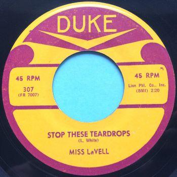 Miss La Vell - Stop these teardrops - Duke - Ex