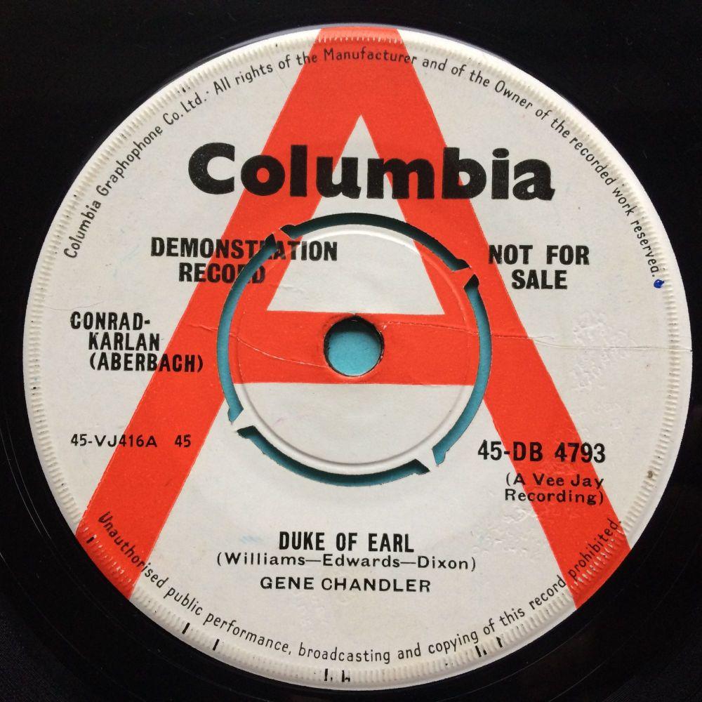 Gene Chandler - Duke of Earl b/w Kissin' in the kitchen - UK Columbia promo - VG+