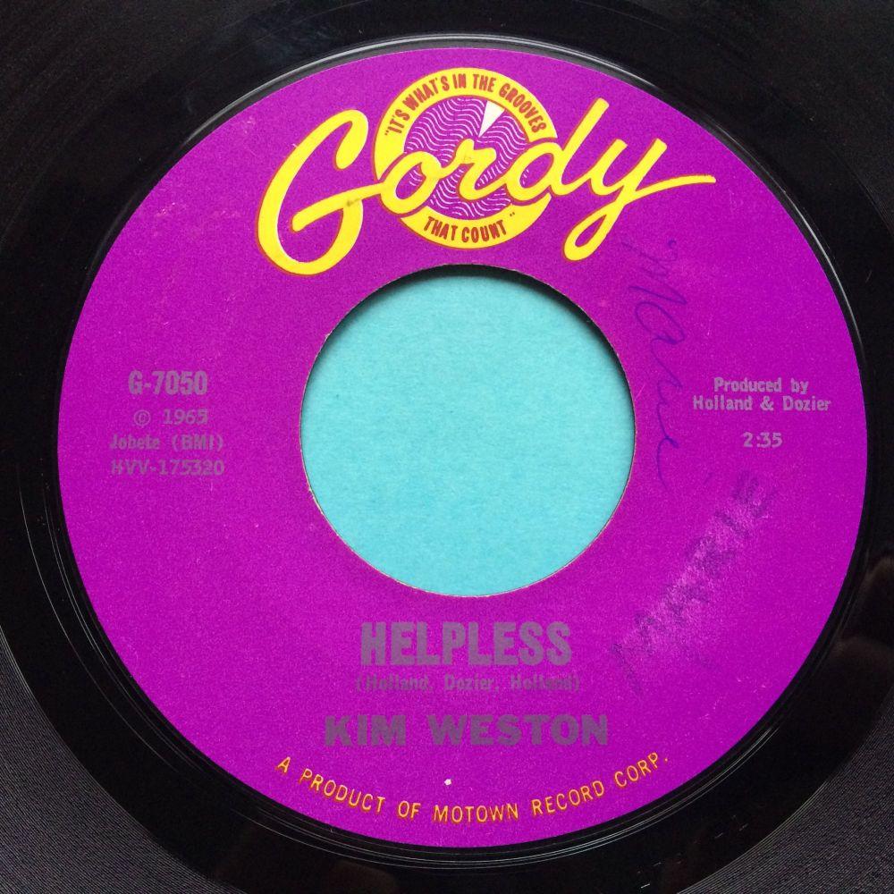 Kim Weston - Helpless b/w A love like yours - Gordy - VG+