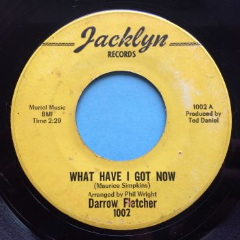 Darrow Fletcher - What have I got now b/w Sitting there that night - Jacklyn - VG+