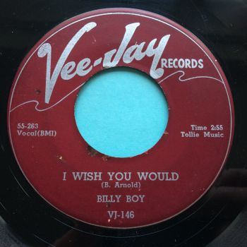 Billy Boy - I wish you would b/w I was fooled - Vee-Jay - VG+