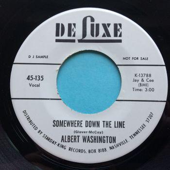 Albert Washington - Somewhere down the line - Deluxe promo - Ex