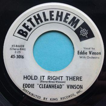Eddie 'Cleanhead' Vinson - Hold it right there - Bethlehem promo - VG+