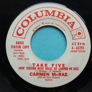 Carmen McRae - Take Five (vocal vers) - Columbia promo - VG+