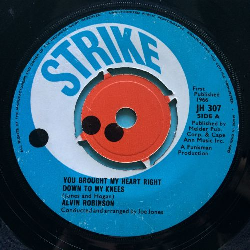Alvin Robinson - You brought my heart down to my knees - U.K. Strike - VG+