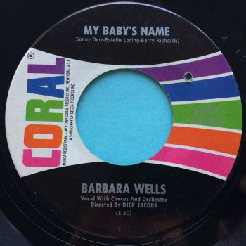 Barbara Wells - My baby's name - Coral - Ex
