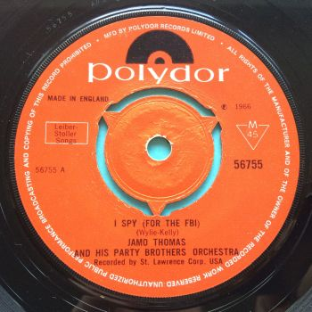 Jamo Thomas - I spy (for the FBI) - U.K. Polydor - Ex