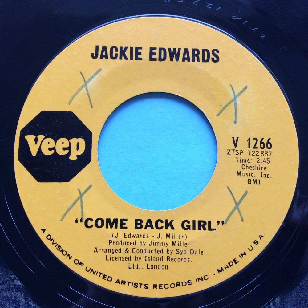 Jackie Edwards - Come back girl b/w Tell him you lied - Veep - Ex- (xol)