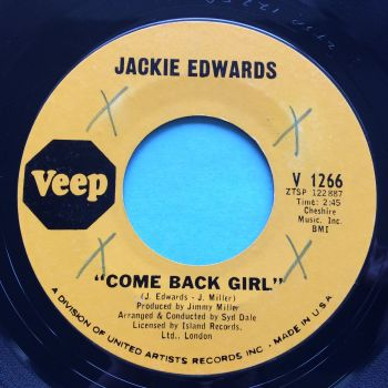 Jackie Edwards - Come back girl b/w Tell him you lied - Veep - Ex- (xol)