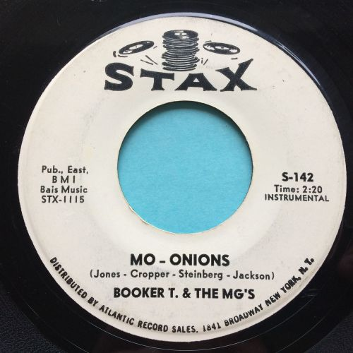 Booker T. & the MG's - Mo - Onions b/w Tic-Tac-Toe - Stax (promo?) - VG+