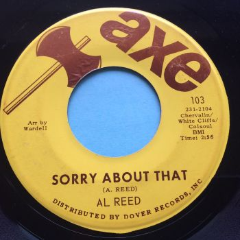 Al Reed - Sorry about that - Axe - VG+