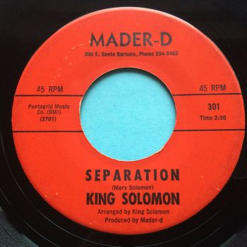 King Solomon - Separation - Mader-D - Ex-