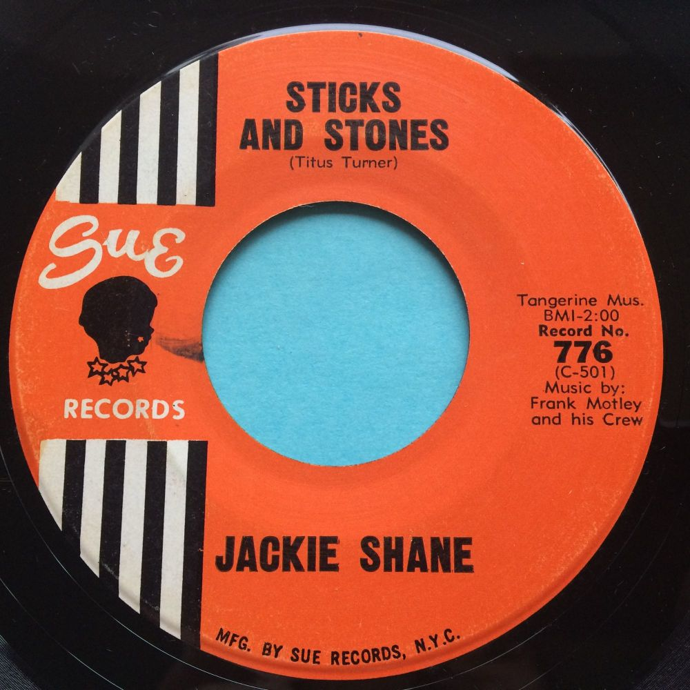 Jackie Shane - Sticks and stones - Sue - Ex