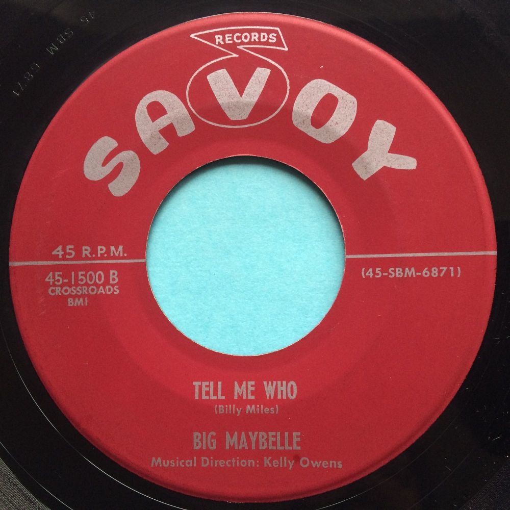 Big Maybelle - Tell Me Who - Savoy - VVG+