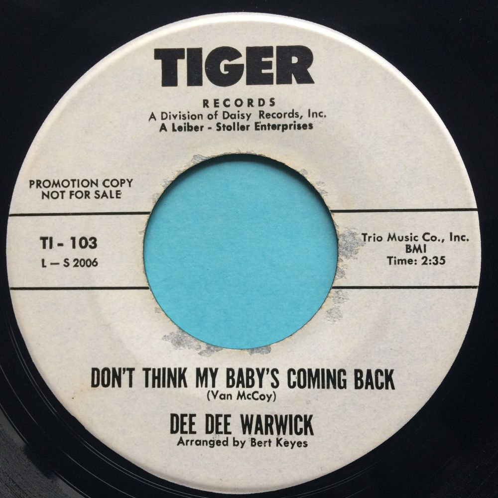 Dee Dee Warwick - Don't think my baby's coming back - Tiger promo - VG+