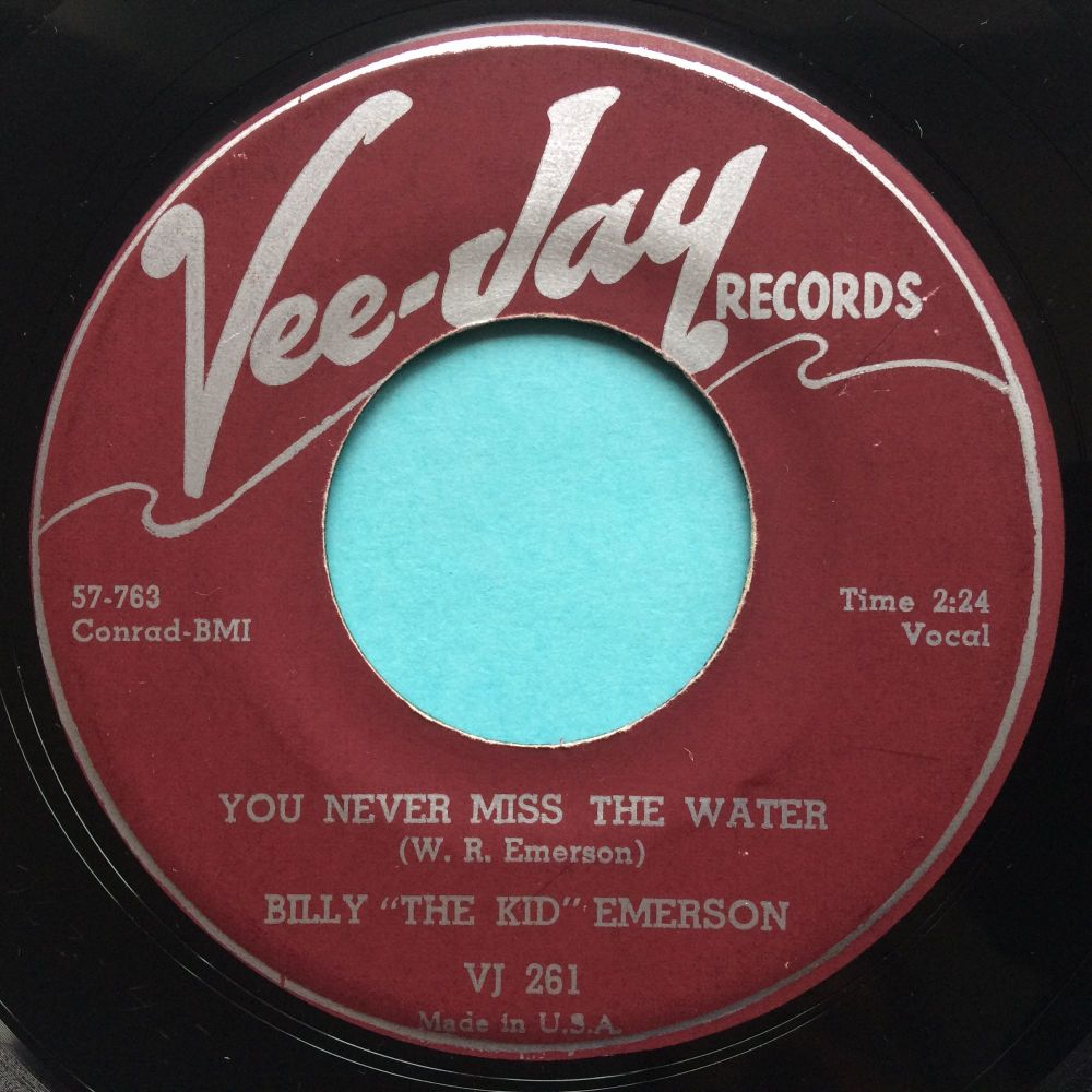 """Billy """"The Kid"""" Emerson - You never miss the water - Vee-Jay - Ex"""