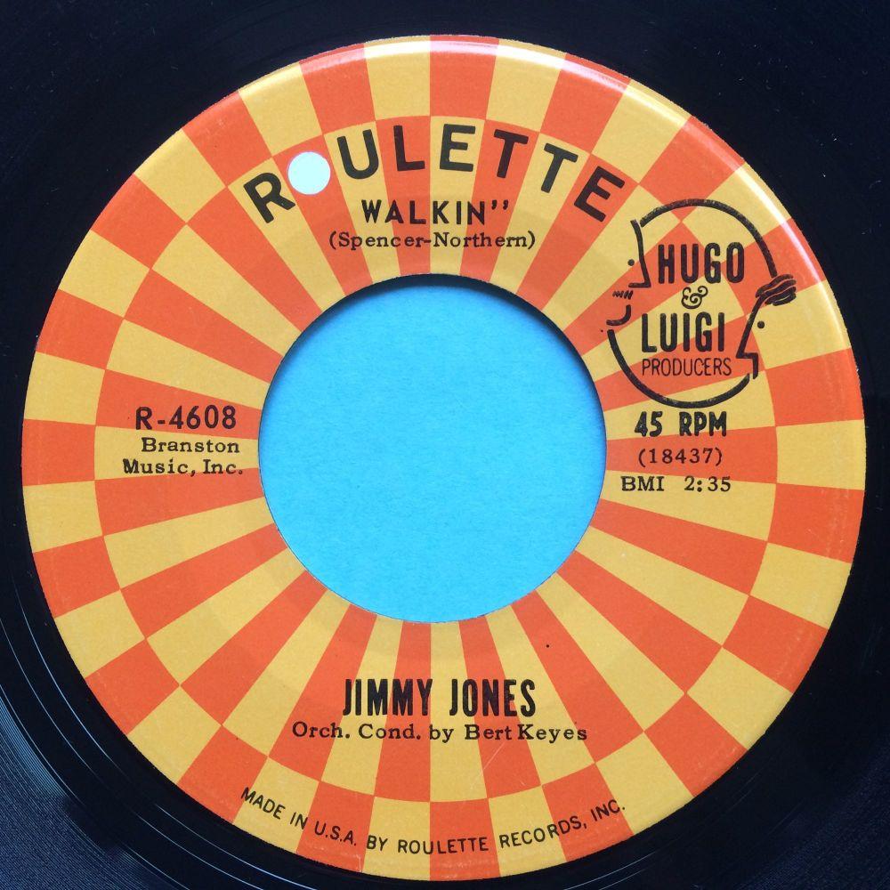 Jimmy Jones - Walkin' - Roulette - Ex- (slight dish nap)