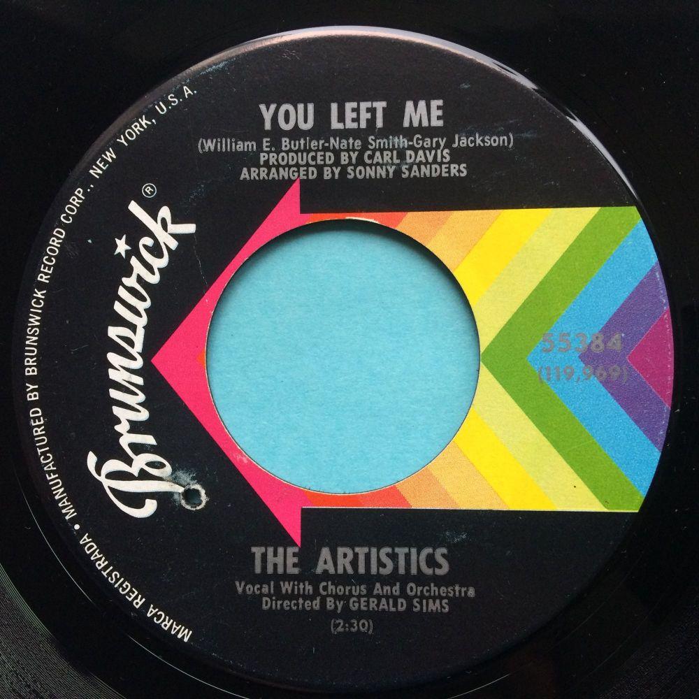 Artistics - You left me b/w Lonely old world - Brunswick - Ex