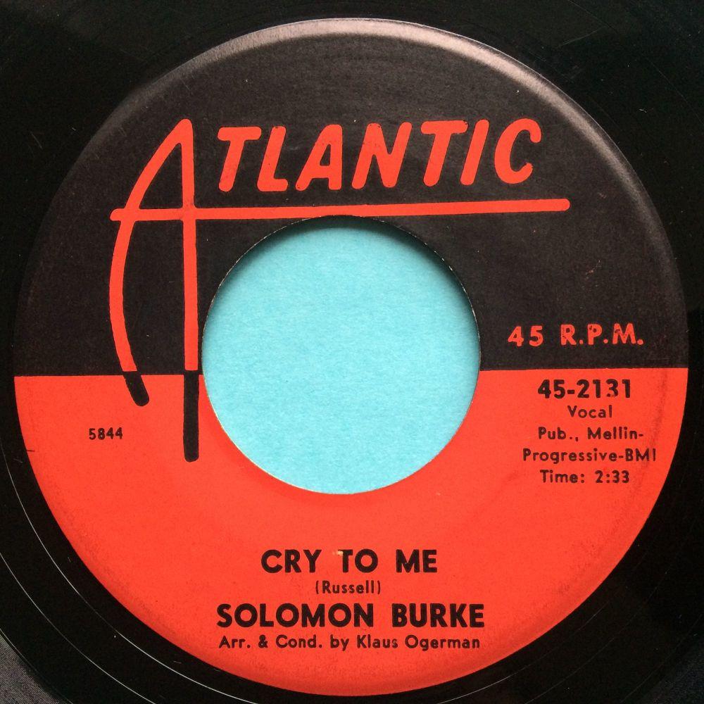 Solomon Burke - Cry to me - Atlantic - VG+