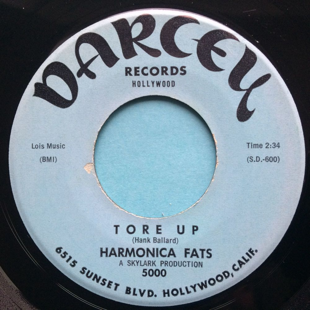 Harmonica Fats - Tore up b/w I get so tired - Darcey - Ex-