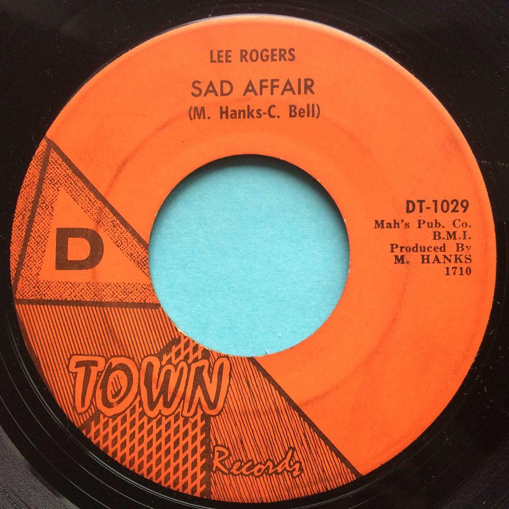 Lee Rogers - Sad Affair b/w Doggin' myself around - D-Town - VG+