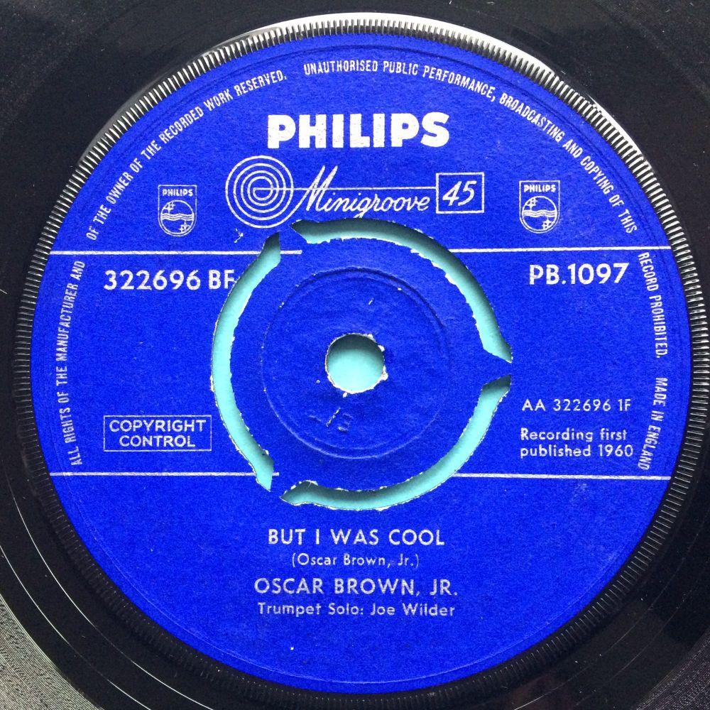 Oscar Brown Jr. - But I was cool b/w Dat dere - U.K. Philips - Ex-