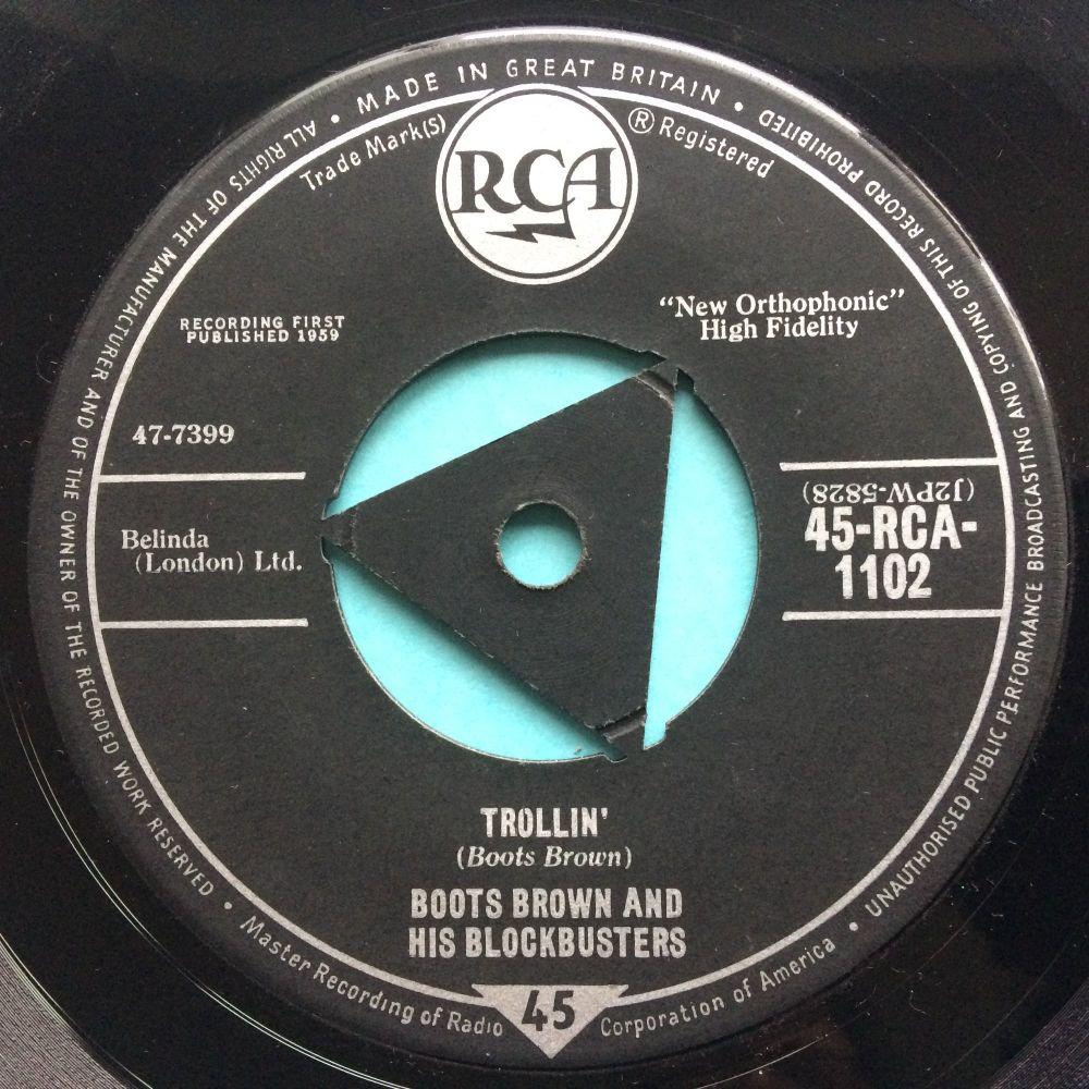 Boots Brown and his Blockbusters - Trollin' - U.K. RCA tri-centre - Ex-