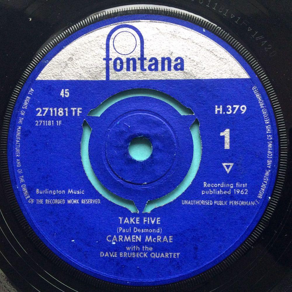 Carmen McRae - Take Five (vocal vers) - U.K. Fontana - Ex-
