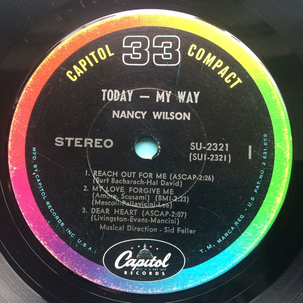 Nancy Wilson - Reach out for me (Today-My Way 33 rpm E.P.) - Capitol - Ex-