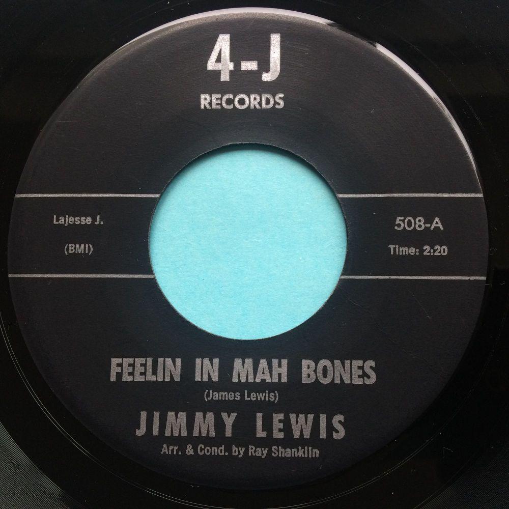 Jimmy Lewis - Feelin' in mah bones - 4-J - Ex