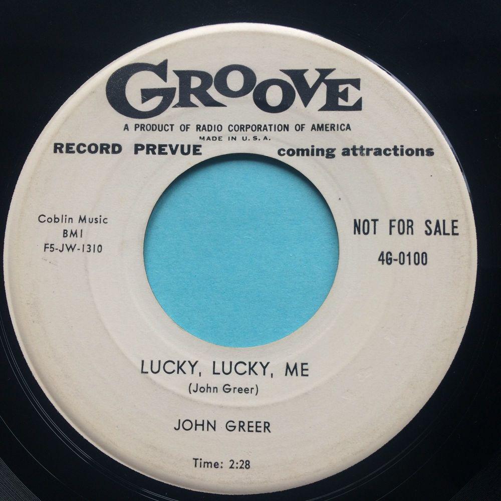 John Greer - Lucky, lucky, me - Groove promo - VG+