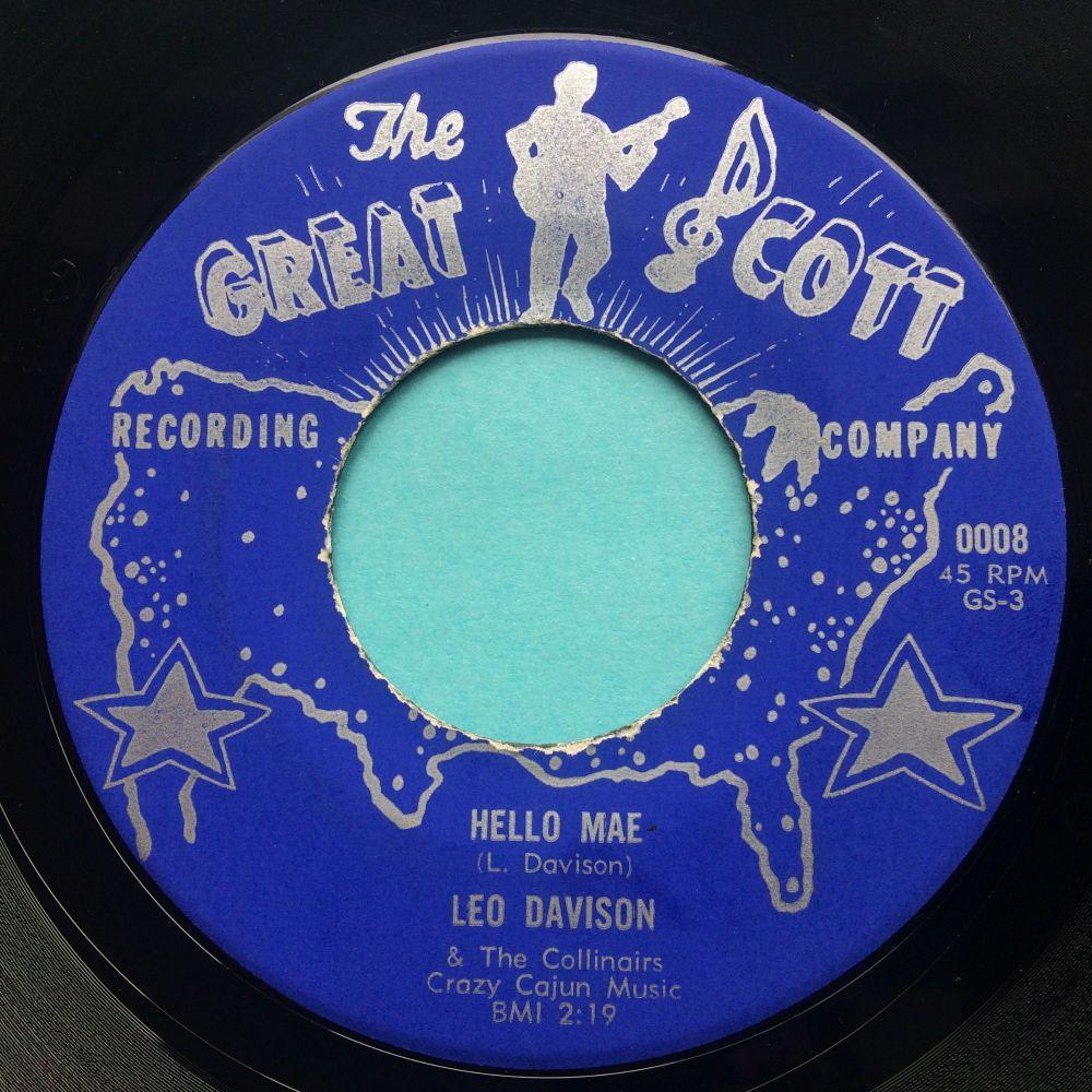 Leo Davison - Hello Mae - Great Scott - Ex