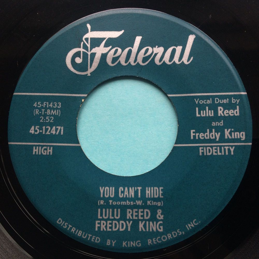 Lulu Reed & Freddy King - You can't hide - Federal - Ex-
