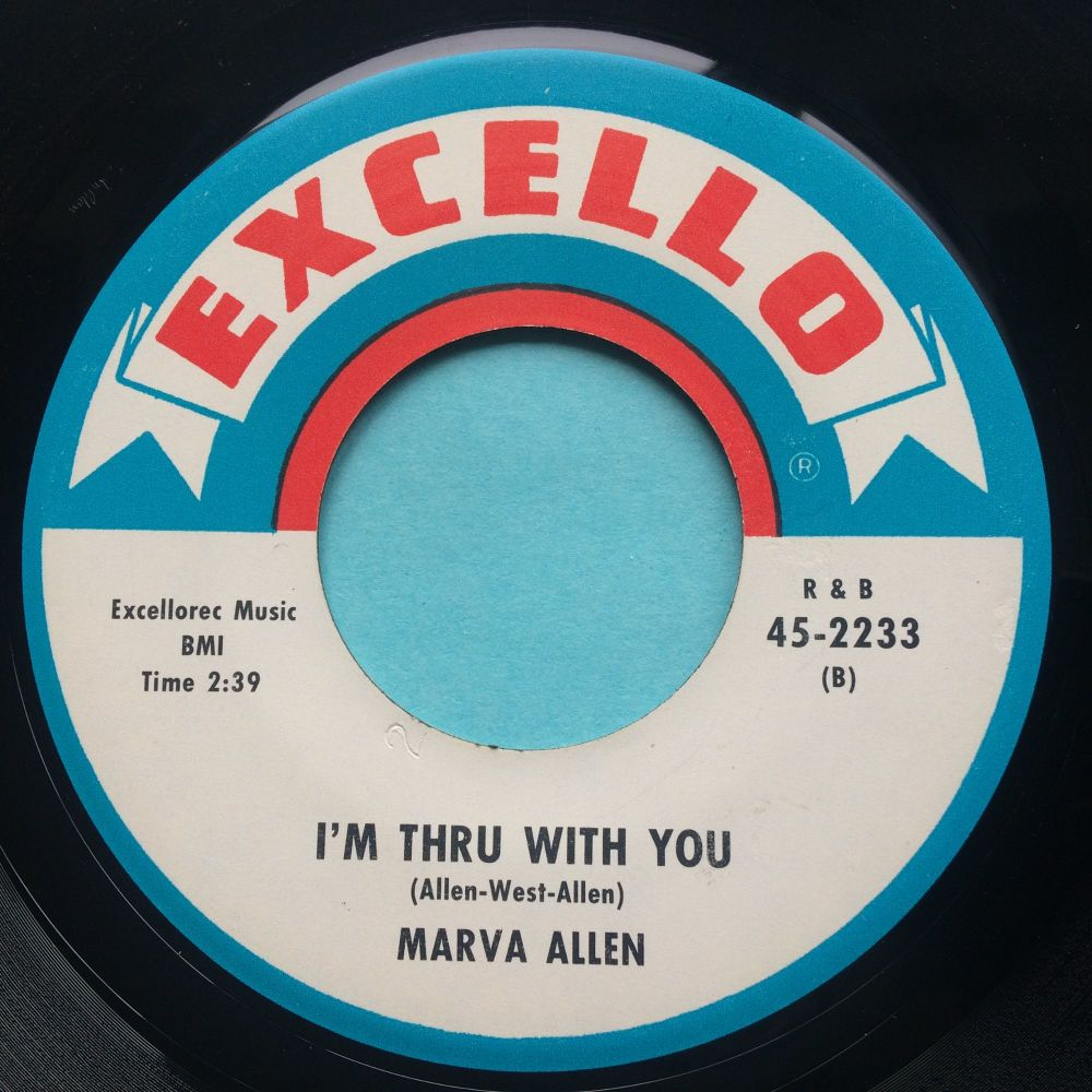 Marva Allen - I'm thru with you - Excello - Ex