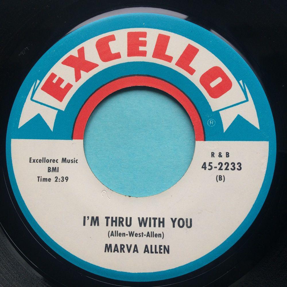 Marva Allen - I'm thru with you - Excello - Ex