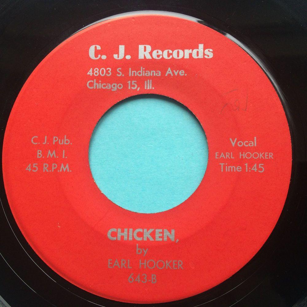 Earl Hooker - Chicken b/w Wild moments - C.J. - Ex-