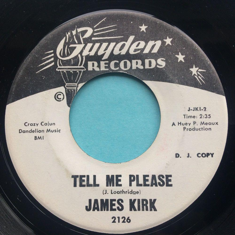 James Kirk - Tell me please - Guyden promo - VG+