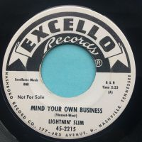Lightnin' Slim - Mind your own business - Excello promo - Ex