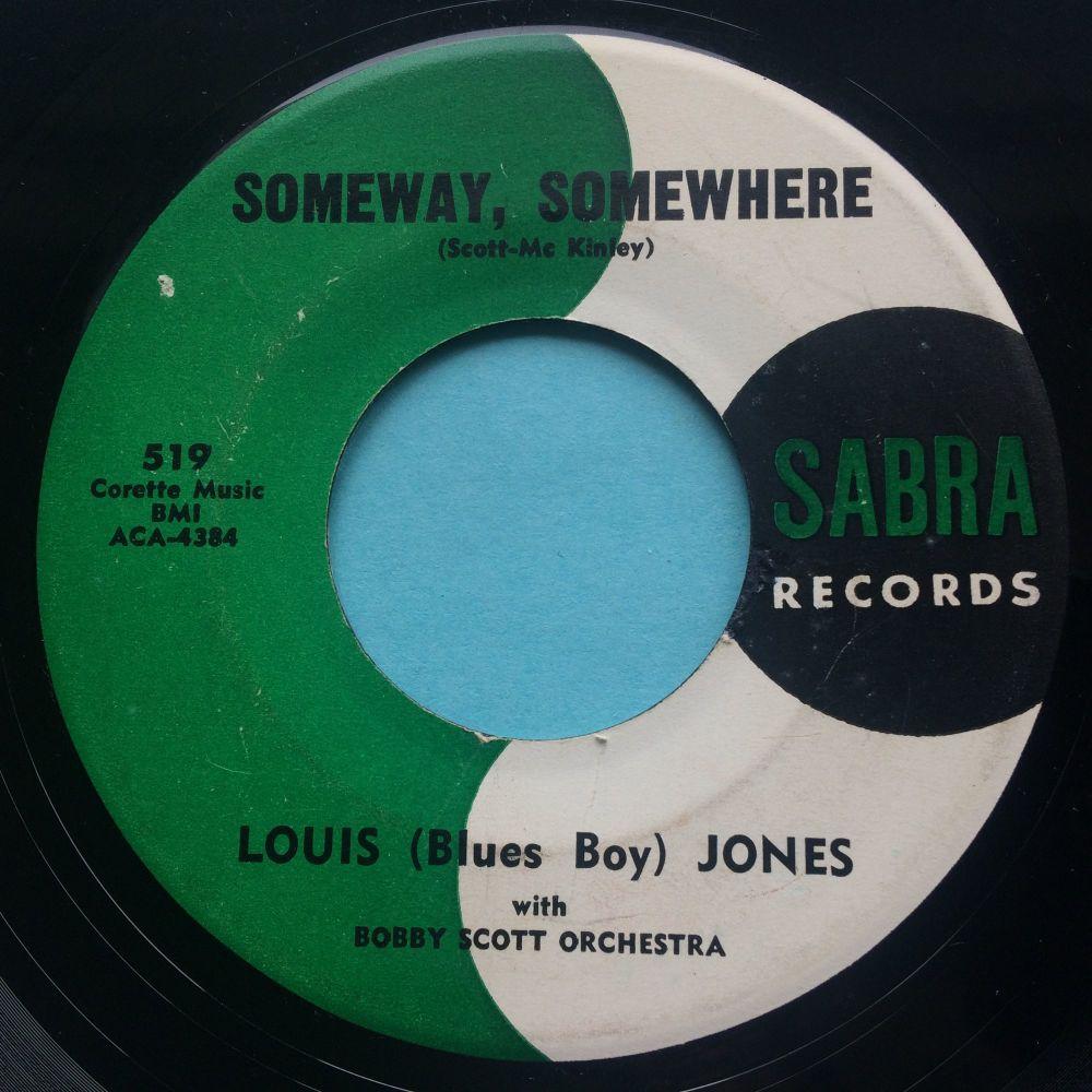 Louis (Blues Boy) Jones - Someday, somewhere - Sabra - VG+